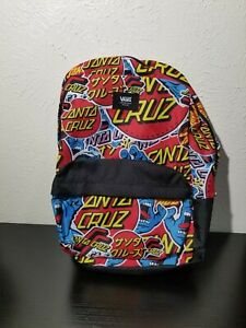 VANS x Santa Cruz Old Skool Backpack Screaming Hand All Over Back 2 School New