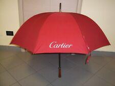 Raro ed elegante ombrello CARTIER di colore bordeaux usato