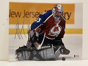 SIGNED COLORADO AVALANCHE PATRICK ROY 8x10 PHOTO TOP100 HHOF BSA BECKETT 1