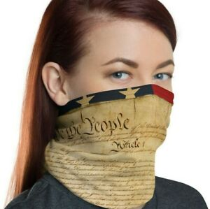 Constitution Face Mask, We the People, American, United States, USA Neck Gaiter