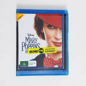 Mary Poppins Returns Bluray Movie - Free Postage Blu-ray Comedy Kids Family