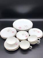 Camelot China American Rose 1655 Japan Dinnerware Set of 24