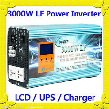 12000W/3000W LF Pure Sine Wave 12VDC/110VAC 60Hz Power Inverter LCD/UPS/Charger