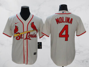 St. Louis Cardinals #4 Yadier Molina cool base Men's Jersey Stitched
