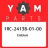 1RC-2413B-01-00 Yamaha Emblem 1RC2413B0100, New Genuine OEM Part