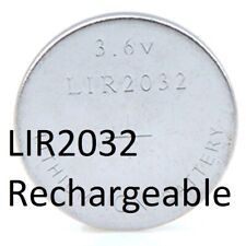 Pile bouton LIR2032 Li-ion lithium ion rechargeable  3,6V battery Accus 35mAh