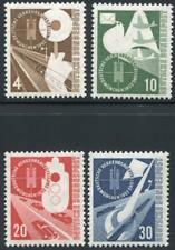 GERMANY 698-701 MINT NH, TRAIN BIRD & PLANE