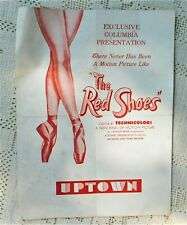 VINTAGE 1948 MOVIE PROGRAM  - THE RED SHOES - UPTOWN THEATER - KANSAS CITY, MO.