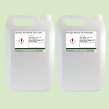 Hydrogen peróxido de grado alimenticio 6% 2 X 5 litros (10 L)