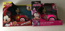 Walt Disney Mickey Mouse Minnie Mouse Kids Toy Push And Go Racer Lot of 2 NEW