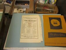 1914 Westminster Oratorio Club Handel's Messiah Concert Program New Wilmington