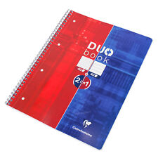 A4 Spiral Paper Notebook 80 Sheet 5mm 5/5 Grid & Feint Ruled Lined Note Memo Pad