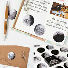 45Pcs/Set Moon Phase Paper Stickers Diary Envelope Scrapbook Bag Label DIY Decor