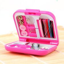 Mini Beginner Sewing Kit Case Scissor Thread Needle Pins Storage Box Travel Home