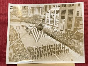 "1937 Original ACME News Photo 1937 ""Legion Captures Fifth Avenue"" 9/21/1937"