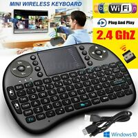 MINI KEYBOARD TASTIERA USB WIRELESS 2.4Ghz TOUCHPAD AIR MOUSE PER ANDROID TV BOX