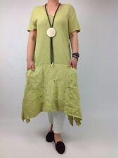 Vestiti da donna verde casual con scollo a v