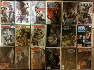 LUCIO PARRILLO LOT of 18 COMICS, HARD TO FIND VARIANTS & EARLY ART- VAMPIRELLA