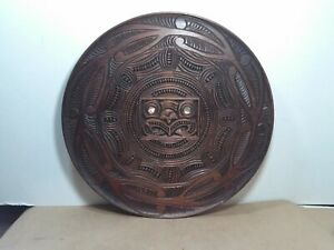 Incredible vintage,MCM 1957  carved wood Tiki wall sculpture,NEW ZEALAND Maori?
