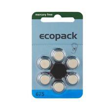 30 Batterien Varta Ecopack Hörgerätebatterien Typ 675 - PR44 - 630mAh - Blau