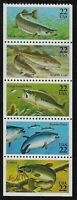 US Scott #2209a, Booklet Pane 1986 Fish 22c VF MNH