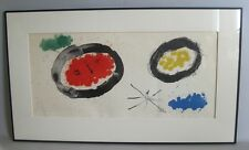 """Large Original Lithograph by JOAN MIRO """"Derriere Le Miroir""""  c. 1975"""