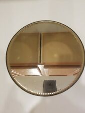New listing Vintage Antique Silver Tone Mirror Ball Vanity Tray Scallop Bevel '50's