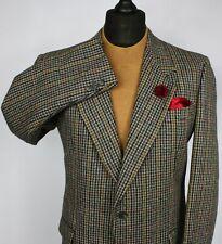 Valentino Tweed Jacket Blazer Windowpane 100% Wool 40R FANTASTIC GARMENT 2305