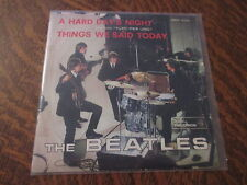 "RARE 45 tours THE BEATLES a hard day's night dal film ""tutti per uno"""