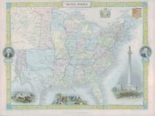 More details for 1850 - rare original antique map of