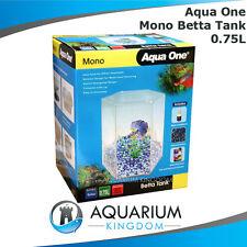 Aqua One Mono Betta Tank - Fighting Fish Hexagonal Aquarium Start Up Kit Unit