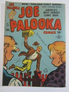 JOE PALOOKA #11 JULY 1947 VG -HARVEY COMICS-BOXING-BLACK CAT, HAM FISCHER CVR!