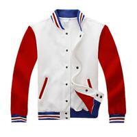 Mens Varsity Jacket University Letterman Baseball College Coat Fashion Outfits