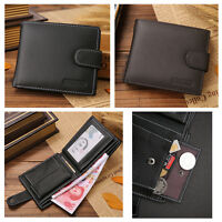 NEW Men's Genuine Leather Bifold Wallet ID Credit Card Photo Holder Coins Purse