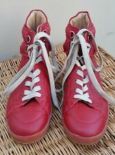 MAISON MARTIN MARGIELA for  H & M Men's Red Leather Hi Top Sneaker SZ 40EU/7US