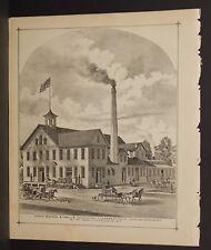 New York Chautaugua County Eureka Wheat Cleaning Machine Engraving 1881 L19#88