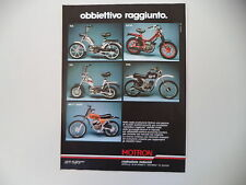 advertising Pubblicità 1980 MOTRON RA/SV3 R/SA/TR6 TR 6/MS T BABY  50
