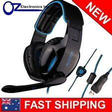 SADES SA-902 7.1 Sound Effect Stereo PC Gaming Headset Headphones Mic Brand New