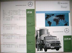 ORIGINAL Prospekt brochure Mercedes LS LPS 338 / 1418 Modelle 1963 1964 Deutsch