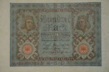 1920 Germany 100 Marks Reichs Bank