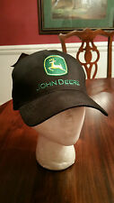 John Deere Ball Cap Black Green Gold One Size New with Tags NOW ON SALE