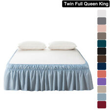 """Mohap 14' 16"""" 18' Drop Bed Skirt Dust Ruffle Twin Full Queen King Size Solid"""