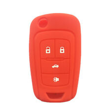 Red 4 Buttons Flip Folding Key Case Cover Silicone cover for Chevrolet Camaro