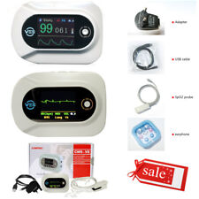 LCD multi-functional electronic stethoscope spo2 Heart Lung Sound ECG waveform