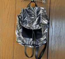 Victoria's Secret PINK Mini Backpack Bag - Black & White Palm Print NWOT NEW