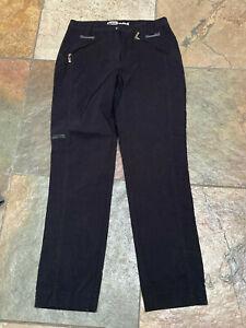 "0521  Jamie Sadock size 2 x 28"" Black Nylon Blend Ankle Crop Golf Pants EUC B"