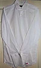 TOM JAMES -USA CUSTOM ELEGANT WHITE COTTON WORK/DRESS SHIRT UK 16.5 EU 42