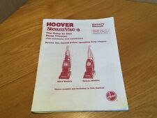 Hoover Steam Vac F5865 Owners Manual