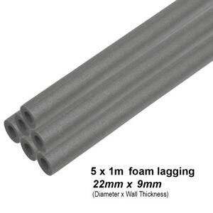 5m Climaflex 22mm x 9mm Foam Insulation Lagging Bore Pipes (5 x 1m Tubes)