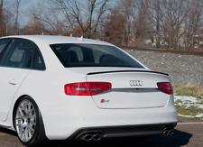 Trunk Spoiler For Audi A4 S4 B8 Trunk Boot Extention Wing Lip